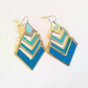 Earrings - Shades of Blue Tiered Dangles